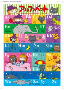 「アルファベットポスター」企画:赤木かんこ、絵:きしらまゆこ、発行:埼玉福祉会